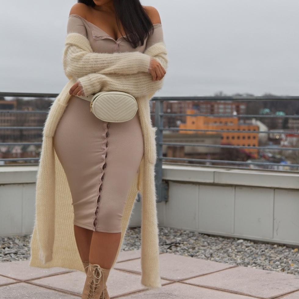Fashion Nova Off The Shoulder Dress